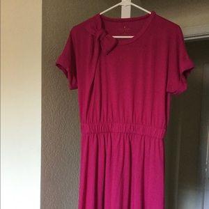 Draped Cotton Jersey Bow Dress M